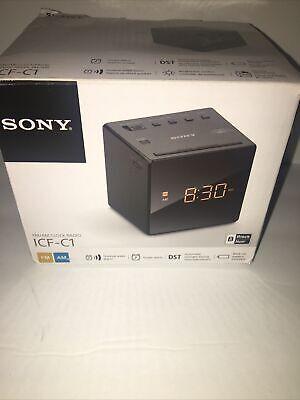 SONY ICF-C1T AM/FM DUAL-ALARM DIGITAL LED CLOCK RADIO - BLACK