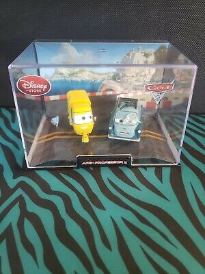 Disney Store Cars 2 Ape and Professor Z Die-cast in Collector's Case NEW