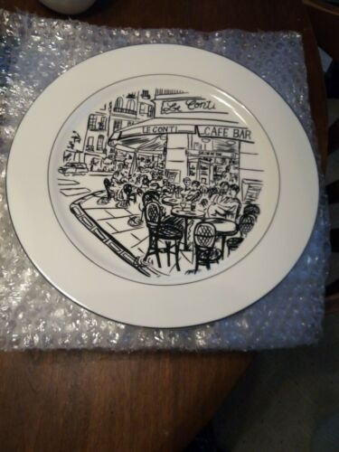 HUGE set of 11 Mikasa Ultima PARISIAN SCENES Dinner Plates