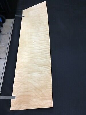 Curly Maple Raw Wood Veneer Sheets 6.75 X 24 Inches 142nd Lot 225
