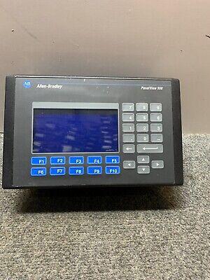Allen Bradley Panelview 550 2711-b5a8 Ser F Operator Interface Display Screen