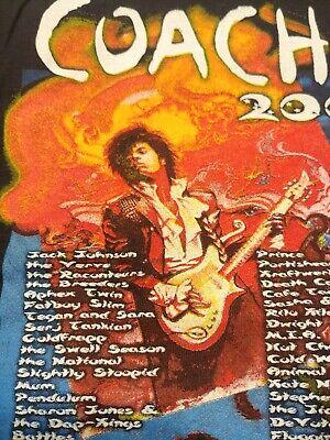 Prince 2008 Authentic Coachella Concert T shirt Prince  Eric Clapton Official