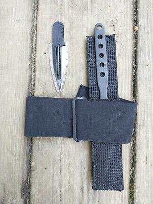 Blackjack Effingham IL Blue Devil Knife! Bonus: Blackjack OSS Lapel Dagger!