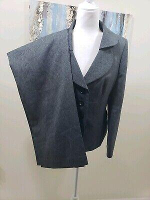 SUIT STUDIO Women 2PC Elegant Gray Pant Suit Size 10