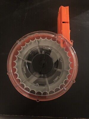 Nerf N-Strike Elite Magazine 35 Round Drum Used Comes With Ammo