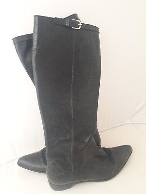AUTH HENRY BEGUELIN  KNEE Boots in Black LEATHER   size 37