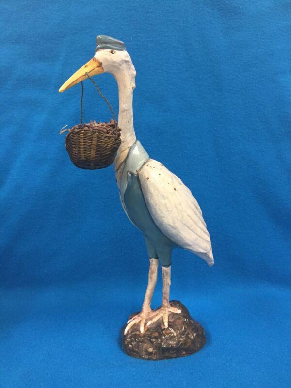 Vintage Stork Figurine Statue Delivery