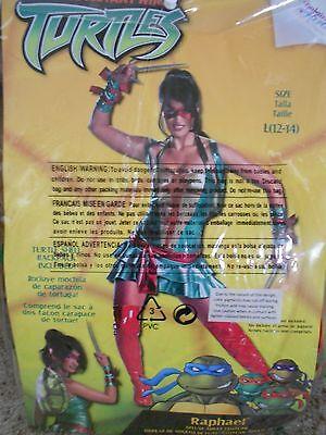 Ladies Sexy Raphael Ninja Turtles Halloween Costume Adult Large 12-14 - Ninja Turtles Raphael Halloween Costume
