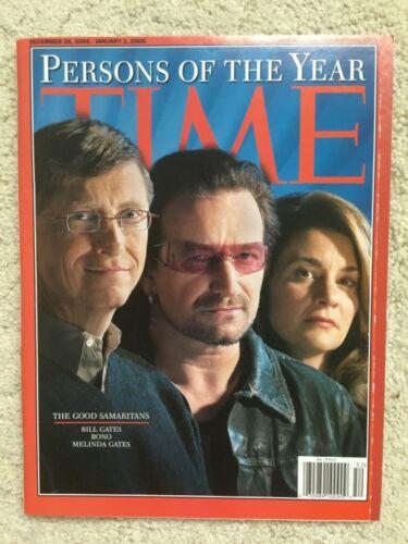 U2 Bono cover Time magazine December 2005 Unread NM