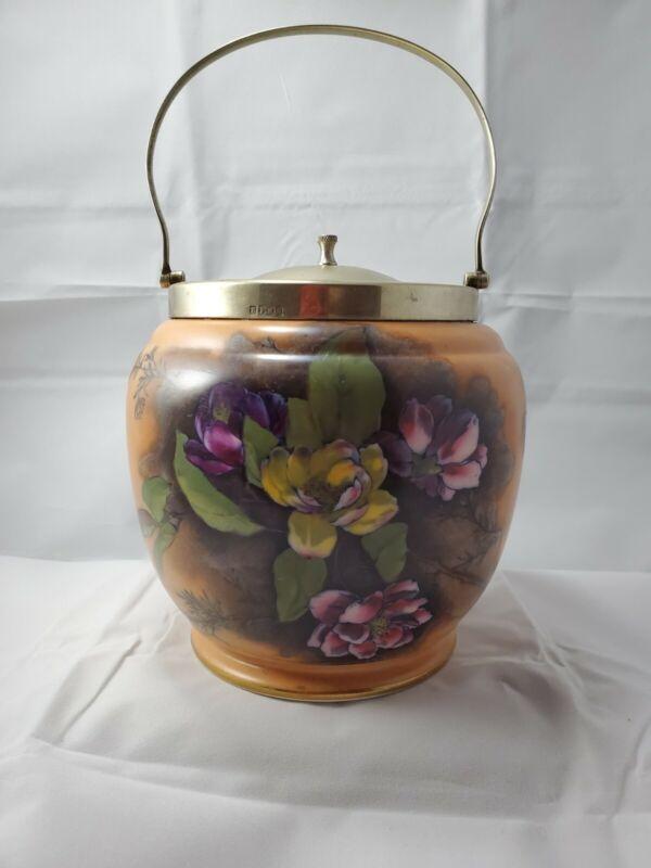 W&R Stoke On Trent EPNS Biscuit Jar