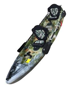 2 + 1 Kayak Package +Armour Seat+Paddles+Leashes+Rod Holders $579 Albion Park Shellharbour Area Preview