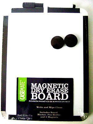Casemate Magnetic Dry Erase Board 8.5 X 11 Wmarker - Black Frame
