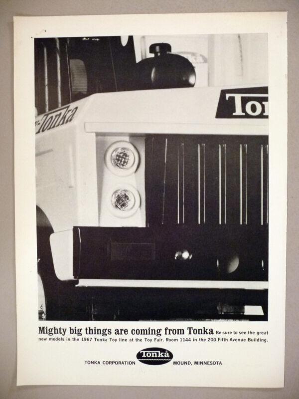 Tonka Truck PRINT AD - 1967 ~ toy, toys