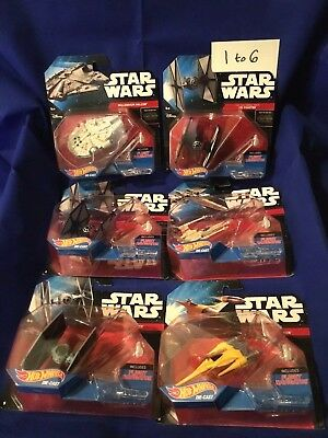 STAR WARS Complete #1 to #30 THIRTY Hot-Wheels--The-Force-Awakens-Starships