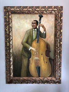 Large framed paintings jazz musicians