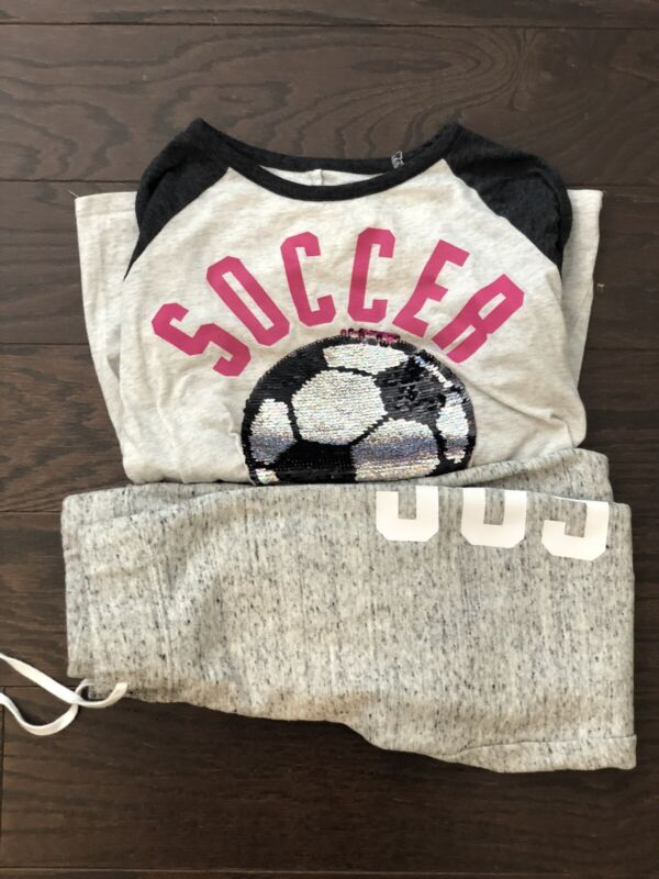 Justice Soccer Shirt And Joggers Set Girls Size 10