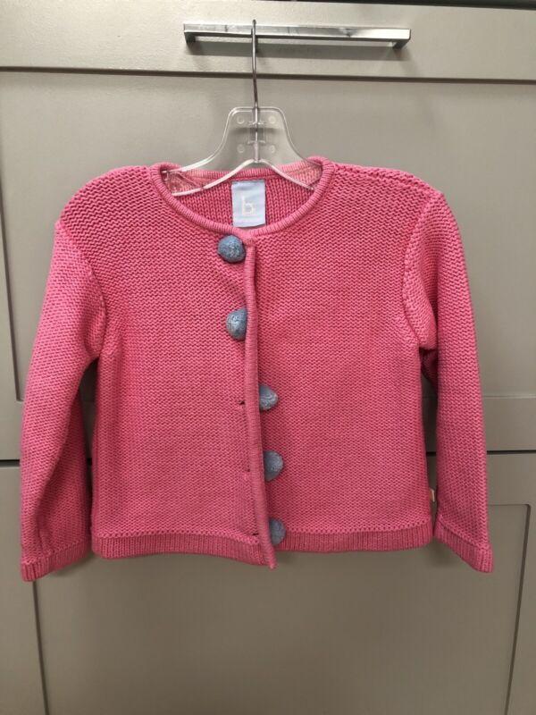 Girls Bella Bliss Pink Sweater Cardigan GUC Size 4