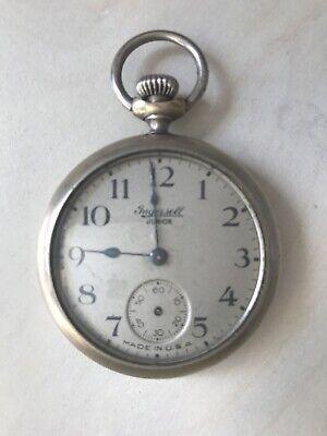 Vintage INGERSOLL Junior pocket watch FOR REPAIR