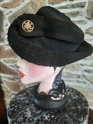 Original Vintage 1940's french ladies tilt hat