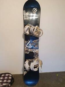 Burton Bullet snowboard with Burton Custom Bindings and Burton Carry b Mosman Mosman Area Preview