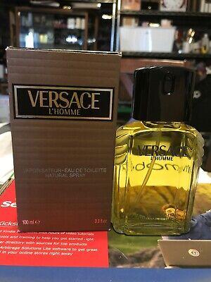 Versace L'HOMME 100 ML EDT Spray. New & Vintage