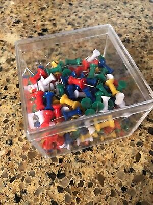 225 Piece Push Pin Pins Thumb Tack Multi Color For Office School Home New