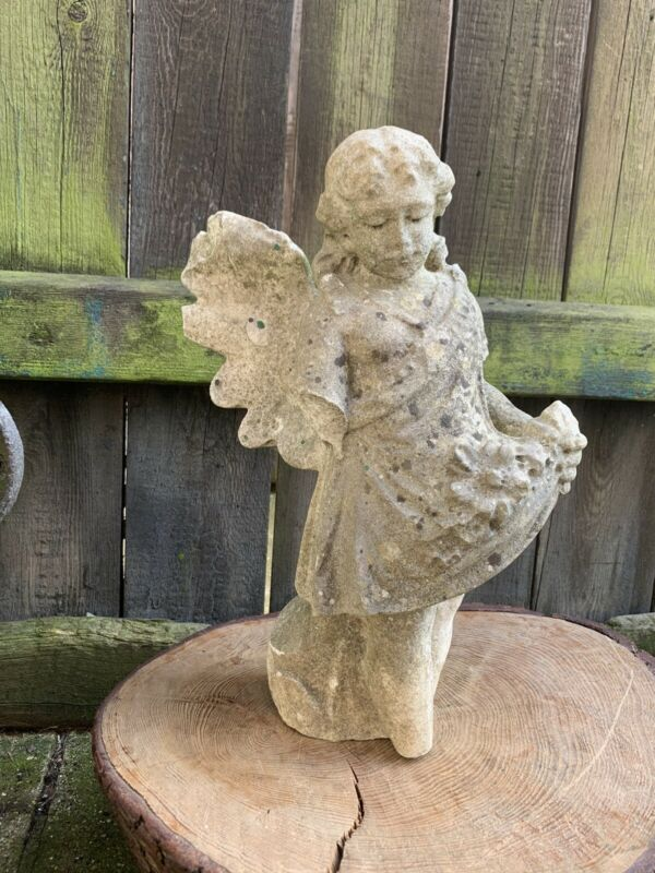 ANTIQUE carved MARBLE ANGEL GRAVE fragmen church chapel Victorian ecclesiastical