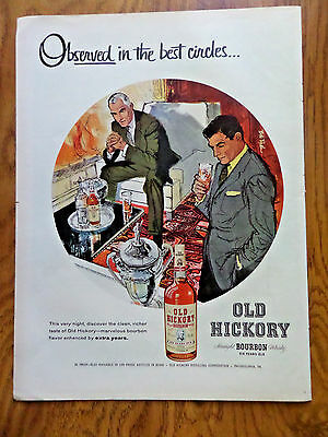 1956 Old Hickory Whiskey Whisky Ad Best Circles Party Theme - Best Theme Parties