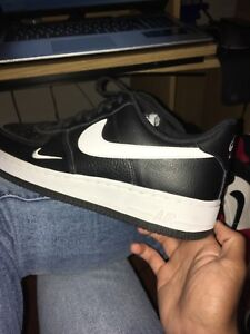 Black and white Air Force 1