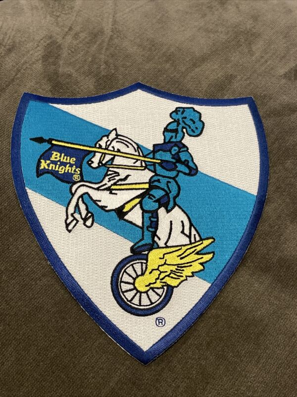 """Blue Knights Motorcycle Club Police Thin Line Patch Logo Iron On 7"""" Jacket"""