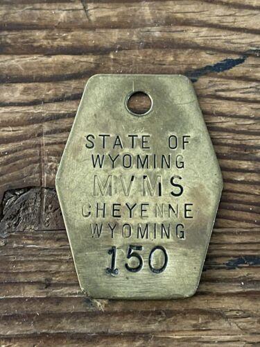 USA Schlüsselanhänger alter Fuhrparkanhänger Cheyenne Wyoming