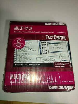 Day runner refill #92408 p/n364-247 multi pack week/non dated (Day Runner Dated Weekly Refills)