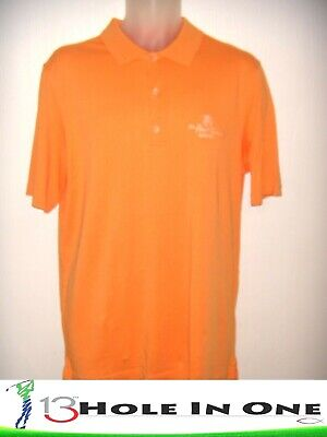 Bobby Jones Men's Golf Shirt Short Sleeve Size M Orange Cotton *LA CANTERA* (La Cantera)