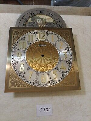 VINTAGE HOWARD MILLER GRANDFATHER CLOCK MOON PHASE DIAL