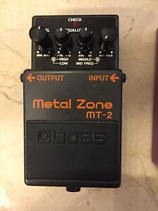 Boss metal zone my-2 and boss bf -2 flanger for trade or $60