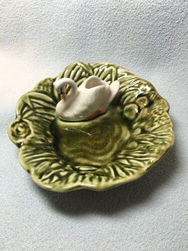 SYLVAC Ware Made In England Figural Bird Swan Ashtray Trinket Dish 4524 VINTAGE