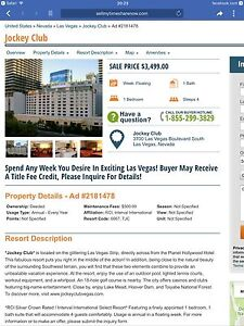 LAS VEGAS TIMESHARE TO TRADE
