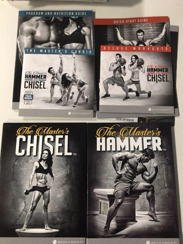 Beachbody Master's Hammer And Chisel Workout 6 Dvd Set + 2 Bonus Discs W/ Guides