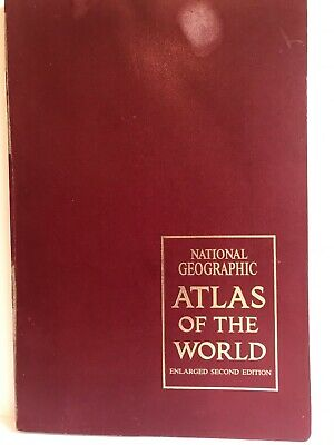Vintage 1966 NATIONAL GEOGRAPHIC ATLAS of the WORLD Enlarged 2nd Edition