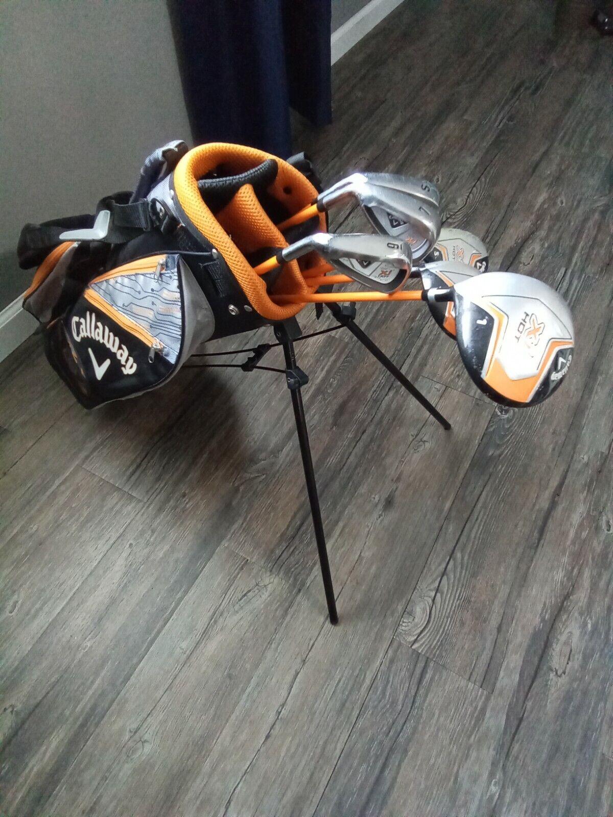 Callaway XJ Hot Junior Golf Club Set LEFT HANDED Youth 6 Clubs Look  - $108.29