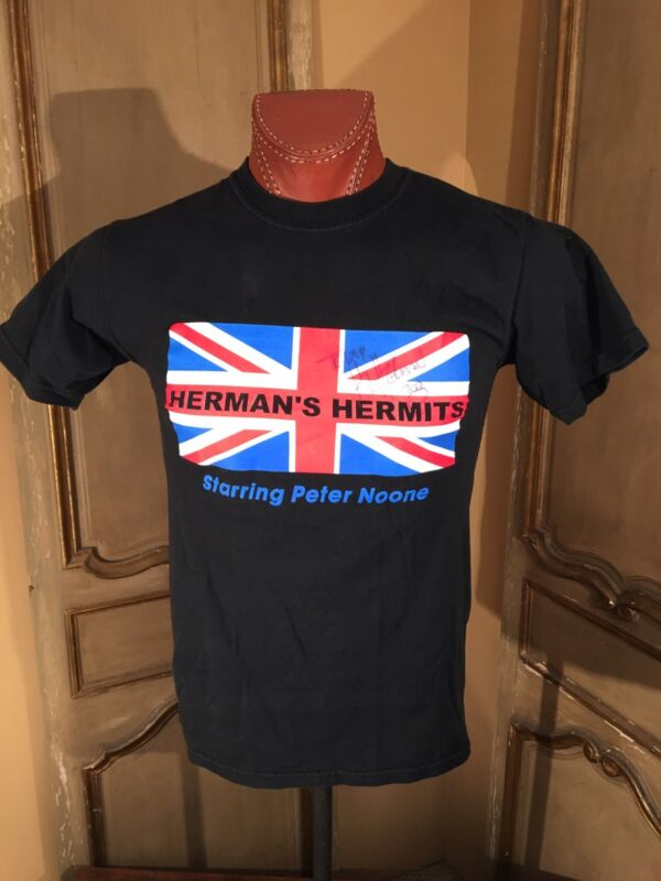 VTG Signed Herman Hermits 2003 Concert Tour T-Shirt Size Small