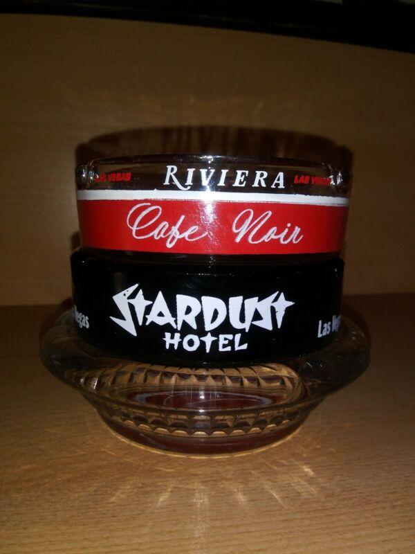 Vintage Landmark Hotel & Casino Las Vegas Lot of 3 Different Glass Ashtrays