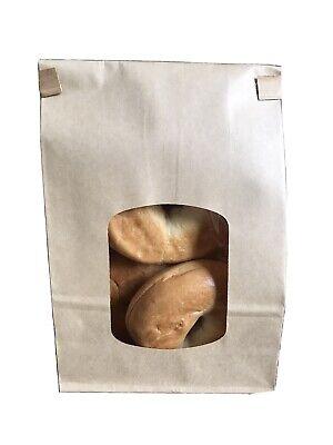 30 New Bakery Bags W Window 1 12 Lb Kraft Coffee Cookie Dog Treats Brownie