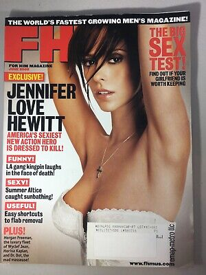 FHM MAGAZINE #22 JUNE 2002-B JENNIFER LOVE HEWITT  SUMMER ALTICE   WYCLEF JEAN