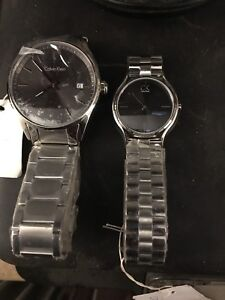 His and hers Calvin Klein watches
