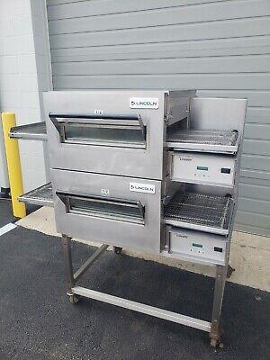 Lincoln Impinger 1116 Fast Bake Double Deck Conveyor Pizza Oven Belt Width 18