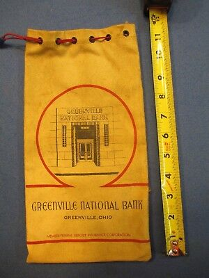 Vintage Greenville Ohio National Bank  Draw String Top