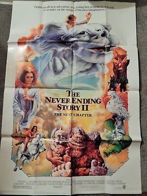 NEVERENDING STORY II (VIDEO DEALER 40 X 27 POSTER!, 1990S) JONATHAN BRANDIS