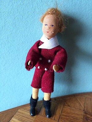 Junge  Biegepüppchen Erna Mayer Puppenstube Puppenhaus 1:12 dollhouse doll boy