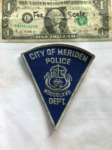 Meriden Connecticut Police Patch Un-sewn great shape
